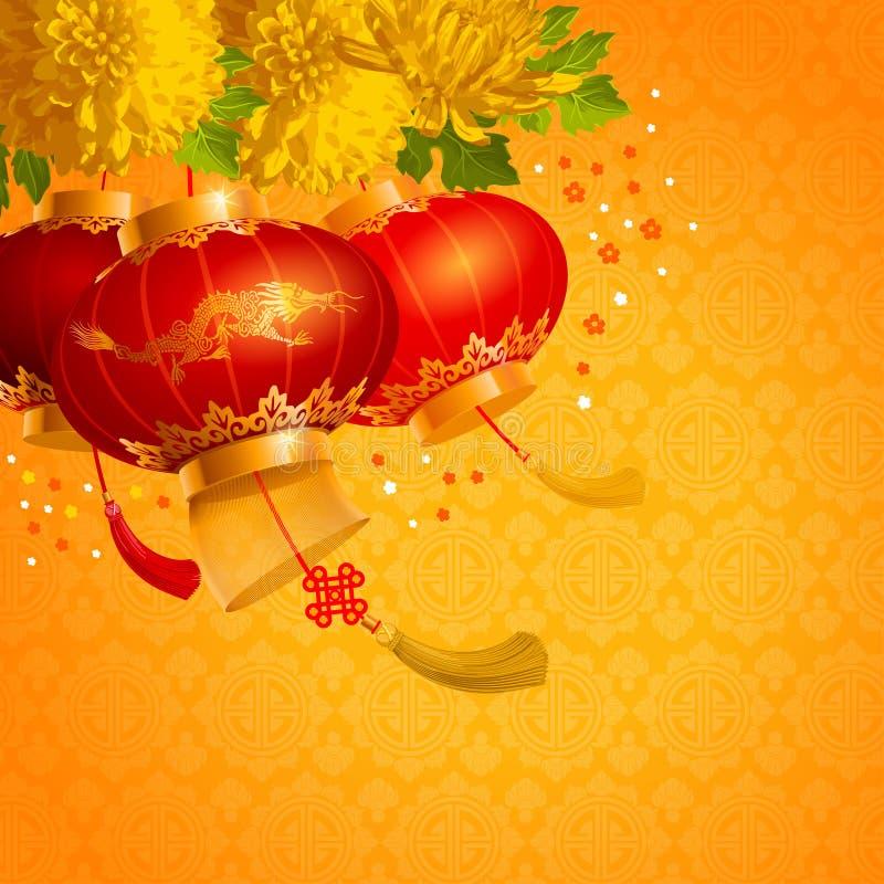 Linternas chinas ilustración del vector