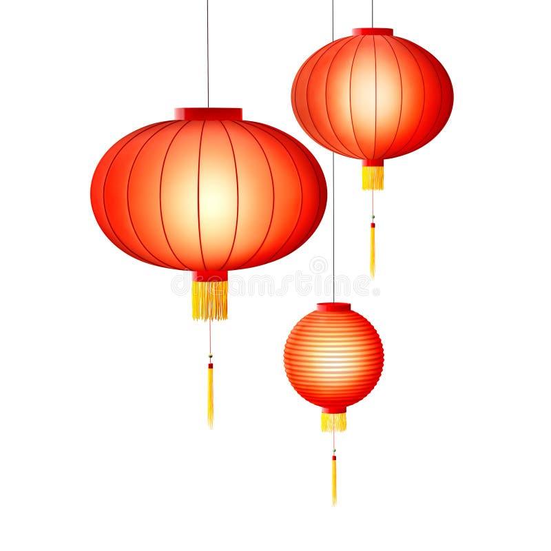 Linternas chinas stock de ilustración