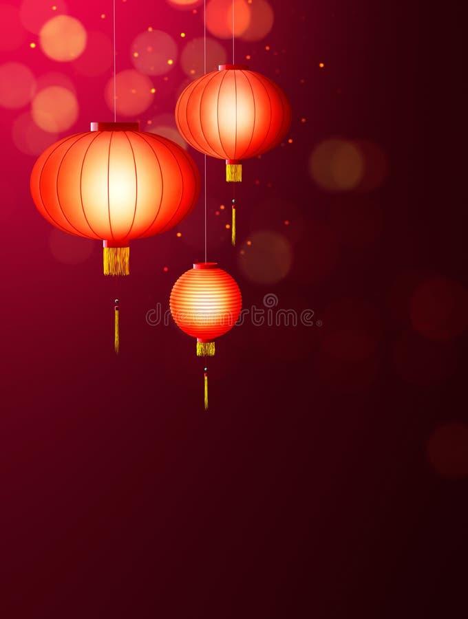 Linternas chinas libre illustration