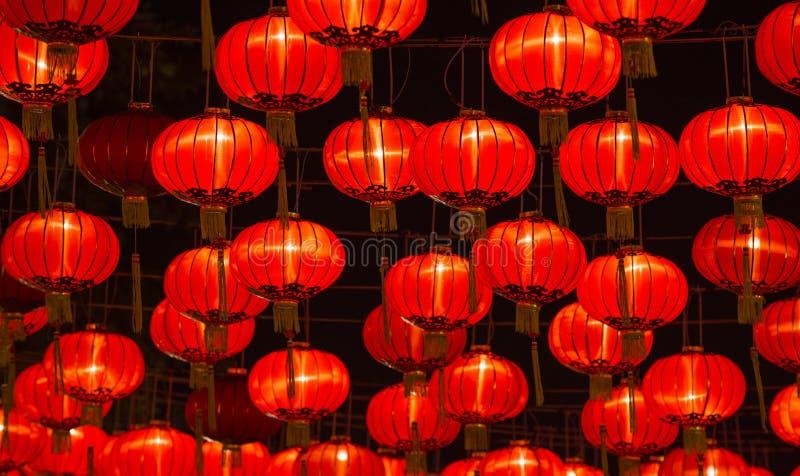 Linternas chinas del Año Nuevo imagen de archivo