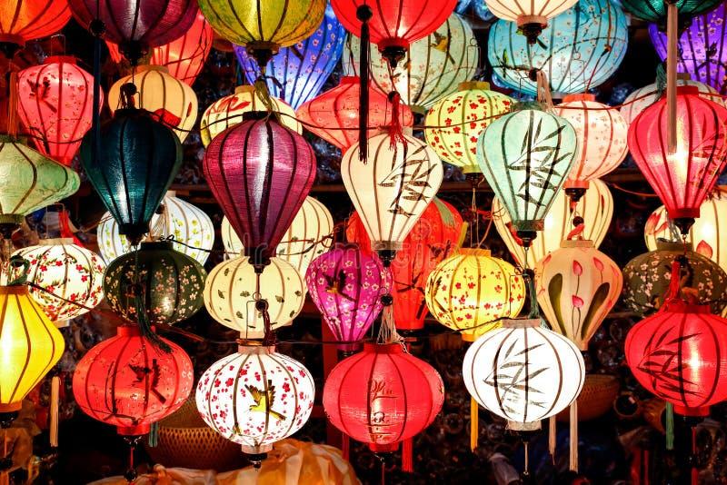 Linternas chinas vietnamitas imagen de archivo
