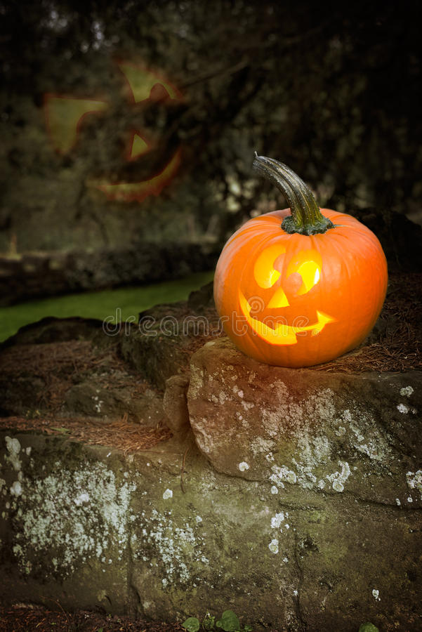 Linternas de Halloween Jack O foto de archivo
