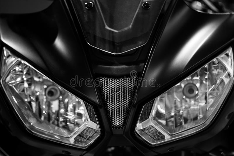 Linternas de la motocicleta fotos de archivo libres de regalías