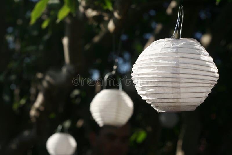 Linternas de papel (horizontales) imagen de archivo
