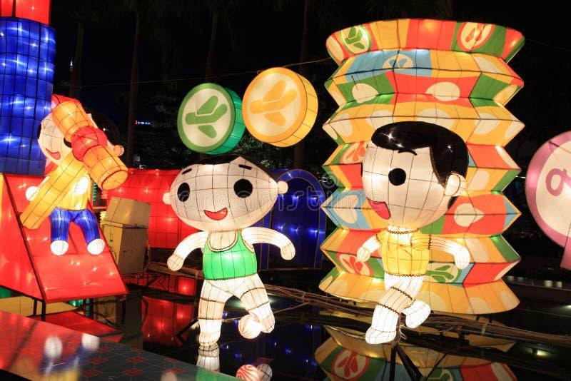 Linternas del chino tradicional fotos de archivo