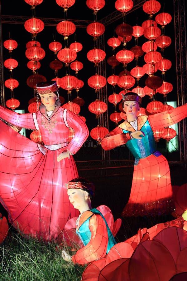 Linternas del chino tradicional imagenes de archivo