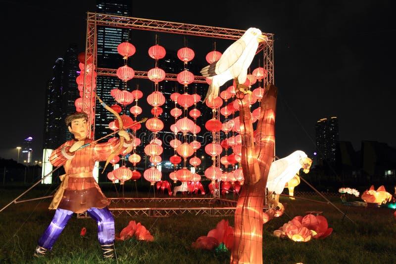 Linternas del chino tradicional, Hong-Kong fotografía de archivo