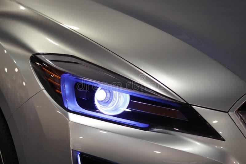 Linternas del coche fotografía de archivo