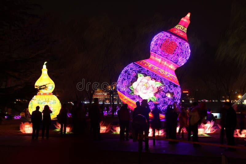 Linternas del jardín del furong del datang de Xi'an imágenes de archivo libres de regalías