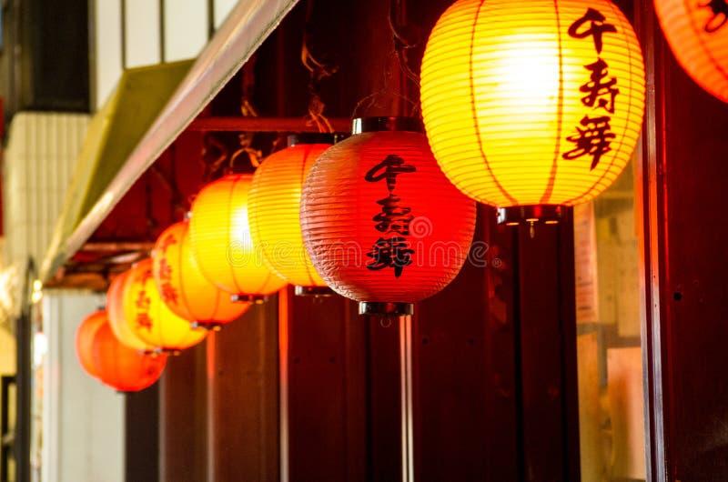 Linternas del restaurante de Japón imágenes de archivo libres de regalías