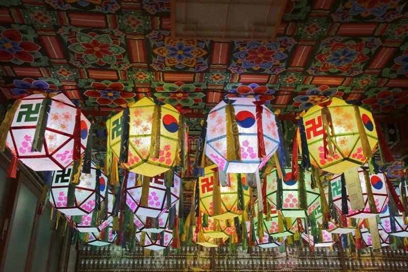 Linternas del templo imágenes de archivo libres de regalías