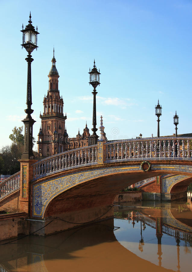 Linternas en cuadrado del `s de España imagen de archivo