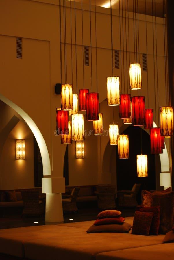 Linternas en el moscatel de Chedi foto de archivo libre de regalías