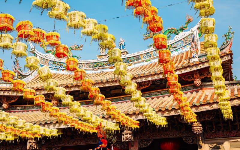Linternas en el templo de Lukang Mazu en Lukang, Taiwán imágenes de archivo libres de regalías