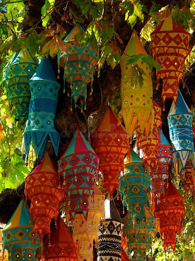Linternas en Kusadasi Turquía imagenes de archivo