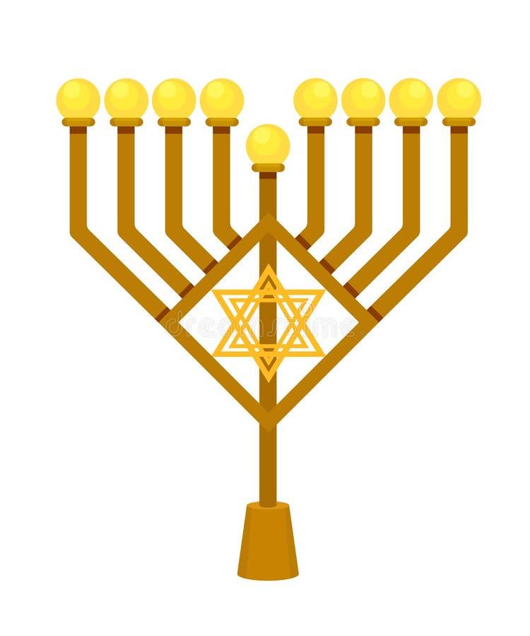 Linternas en la forma de Jánuca en día de fiesta religioso judío tradicional stock de ilustración