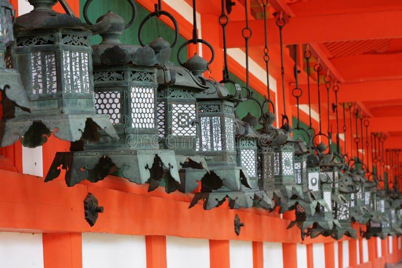 Linternas japonesas foto de archivo libre de regalías