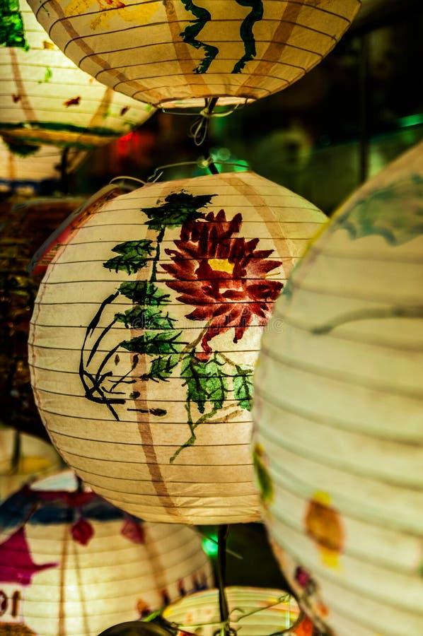 Linternas para el mediados de festival del otoño fotografía de archivo libre de regalías