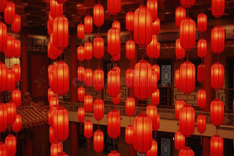 Linternas rojas 2 fotos de archivo