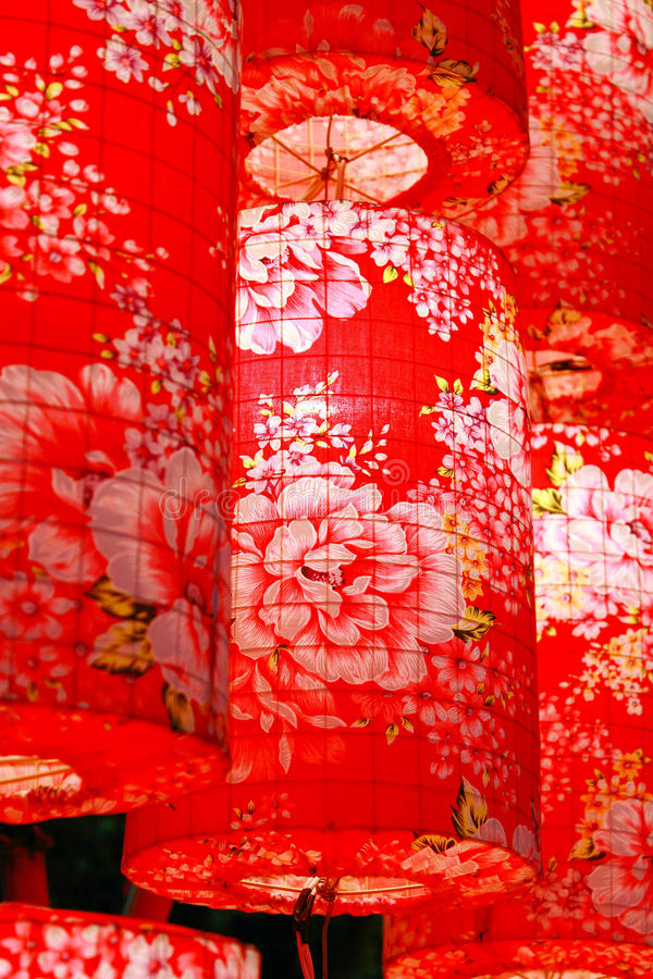 Linternas rojas chinas imágenes de archivo libres de regalías
