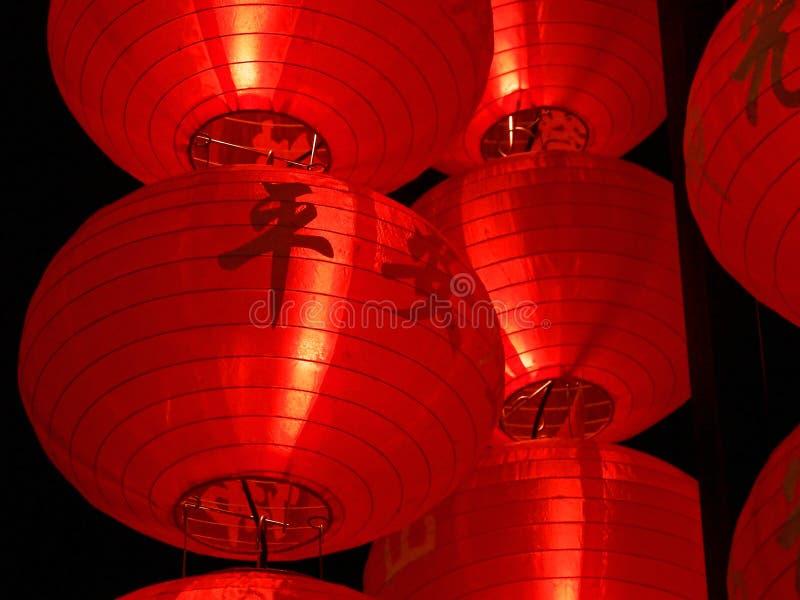 Linternas rojas grandes imagen de archivo libre de regalías