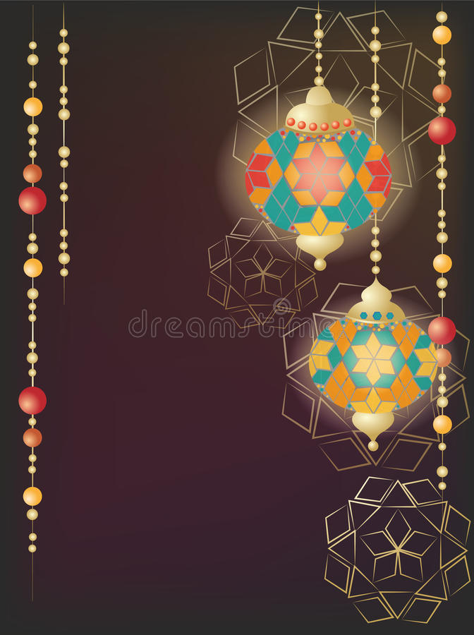 Linternas turcas stock de ilustración