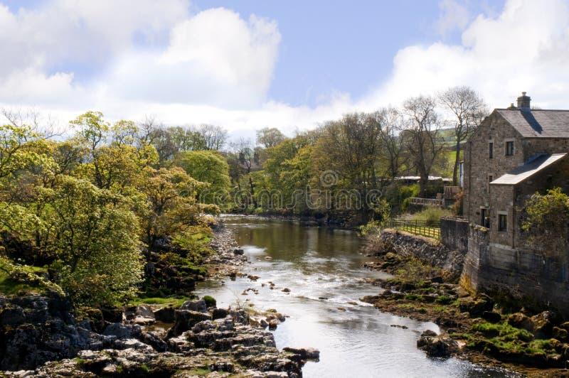 Linton Falls near Grassington in the Yorkshire Dales and Linton Falls royalty free stock photos