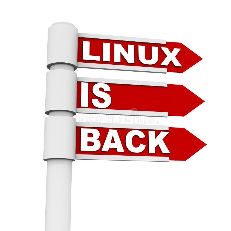 Linux är tillbaka stock illustrationer