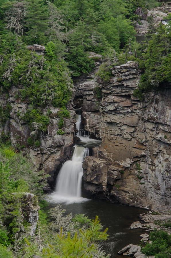 Linville Falls from Overlook royalty free stock photos