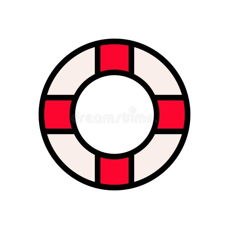 Liny ratowniczej floater lata logo wektorowa ikona lub ilustracja Editable kolor i uderzenie Doskonali? u?ywa dla wzoru i projekt royalty ilustracja