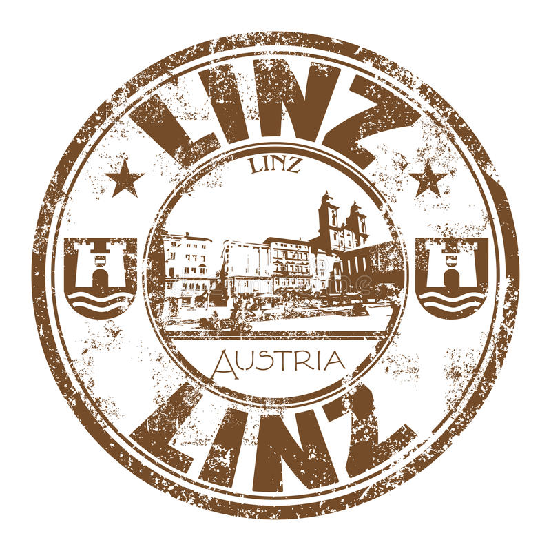 Linz grunge rubber stamp stock photography