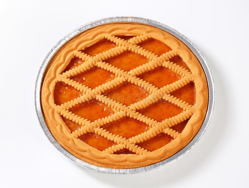 Linzer杏子馅饼 库存照片