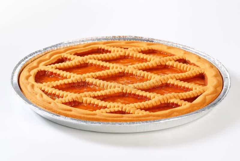 Linzer apricot tart royalty free stock photos