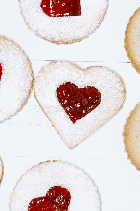 Download Linzer Homemade Cookies With Heart Shape Stock Image - Image: 28000701