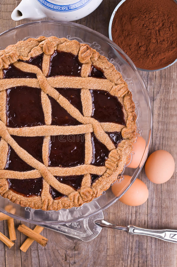 Linzer torte. royalty free stock images