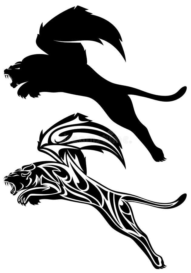 Lion à ailes illustration stock