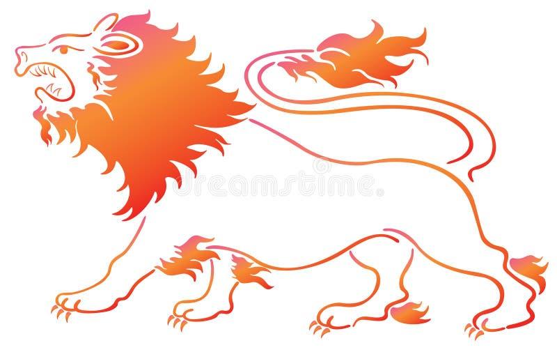 Download Lion stock illustration. Illustration of beast, cute - 12294639