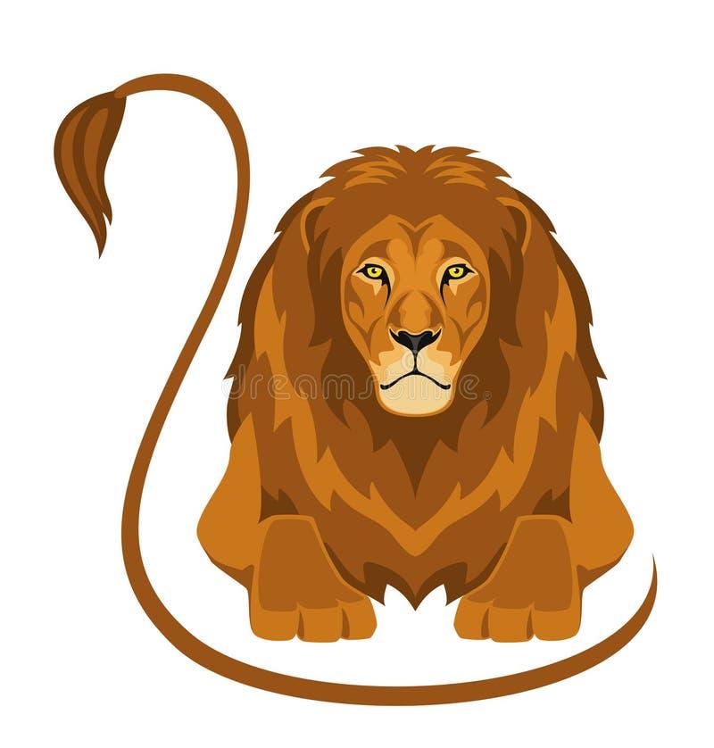 Download Lion stock vector. Illustration of danger, predator, calmness - 14040328