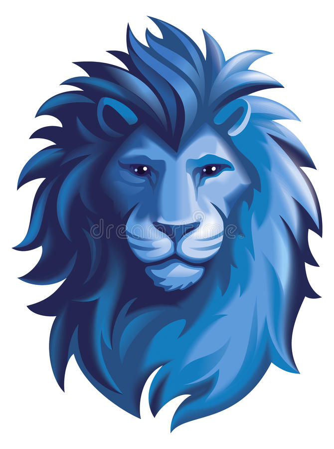 Lion. Stylized illustration of a lions head with a mane royalty free illustration