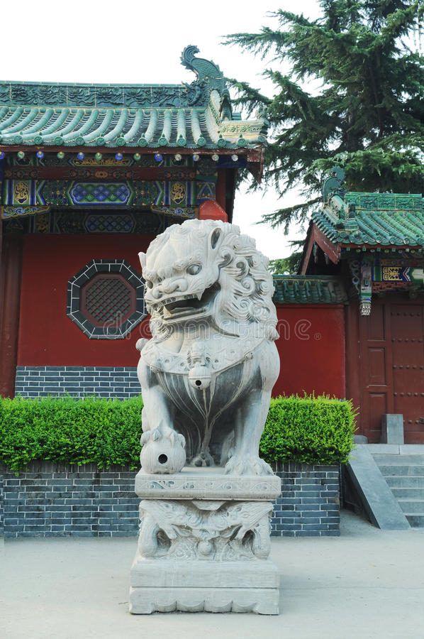 Download Lion stock photo. Image of outdoor, culture, green, carving - 20525900