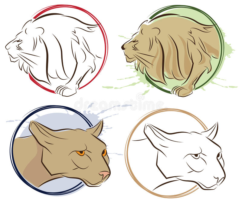 Download Lion stock vector. Illustration of design, engraving - 20993045