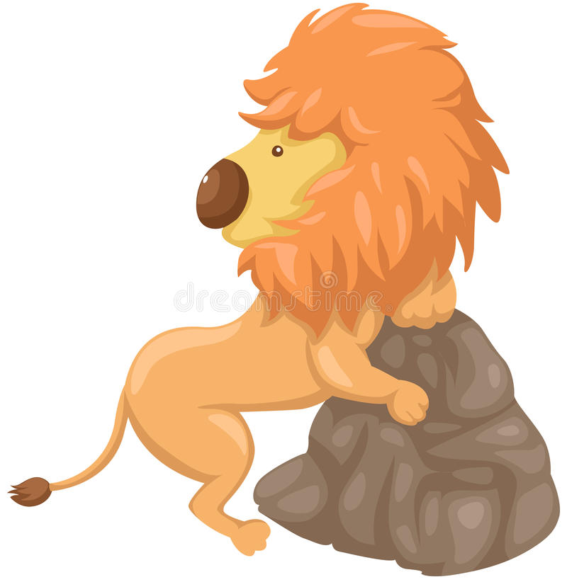 Download Lion stock vector. Illustration of face, predator, back - 24642963