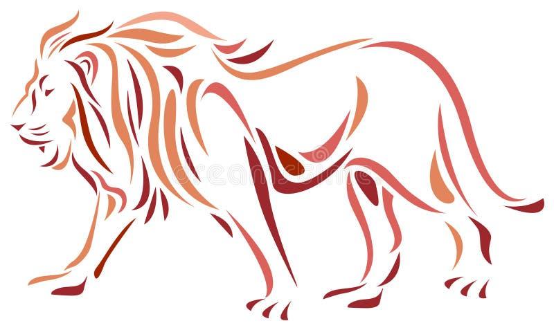 Lion illustration libre de droits