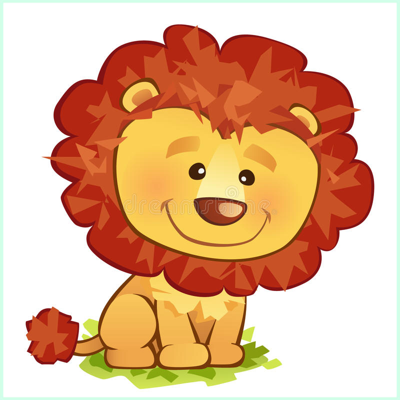 Lion illustration stock