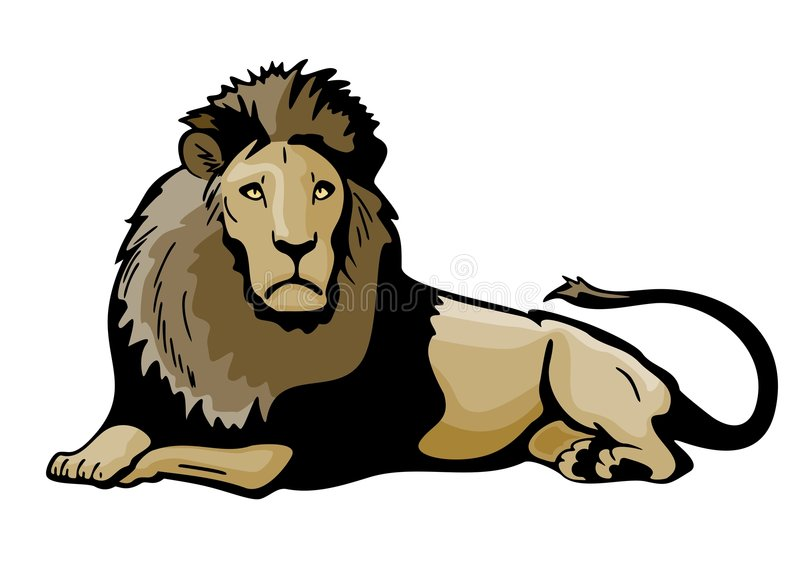 Download Lion stock vector. Image of tail, mane, predator, nature - 7284762