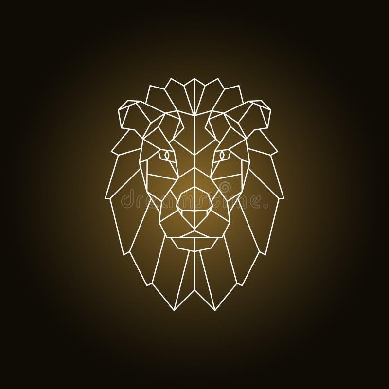 lion africain dessin g om trique abstrait illustration de vecteur image 94548639. Black Bedroom Furniture Sets. Home Design Ideas