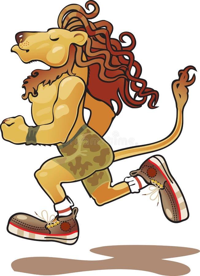 Lion athlete royalty free illustration