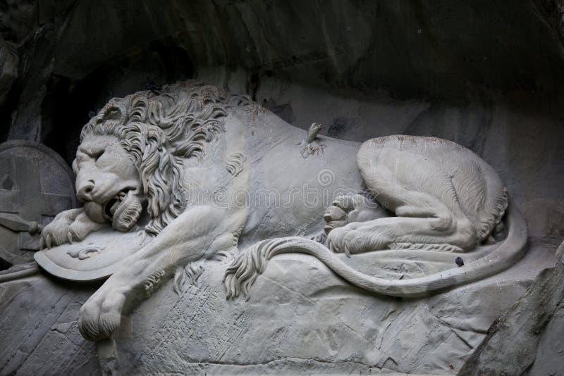 Lion av Lucerne fotografering för bildbyråer