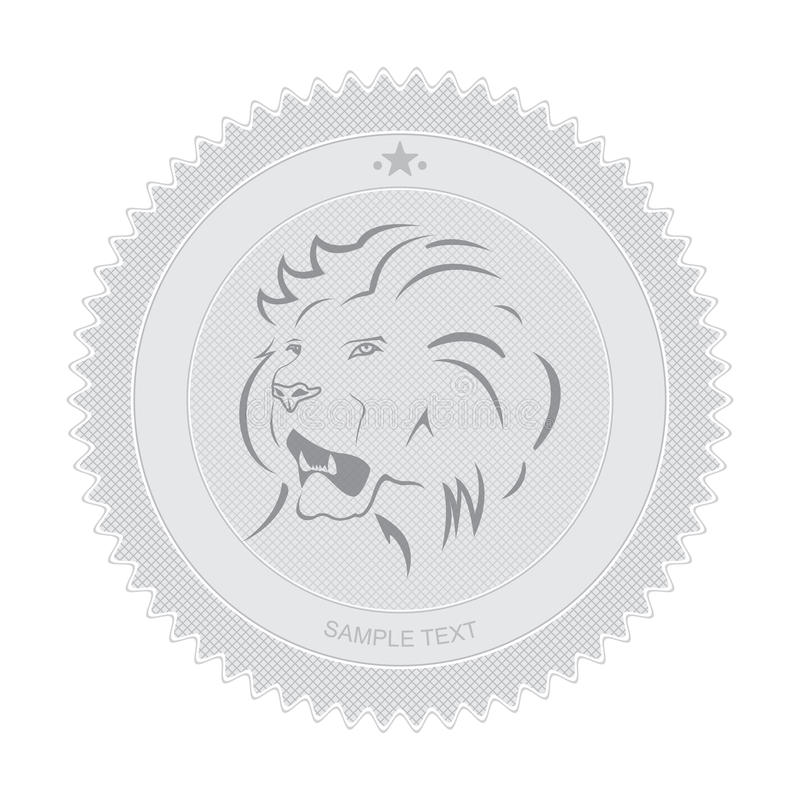 Download Lion Badge stock vector. Image of head, profile, isolated - 24372000