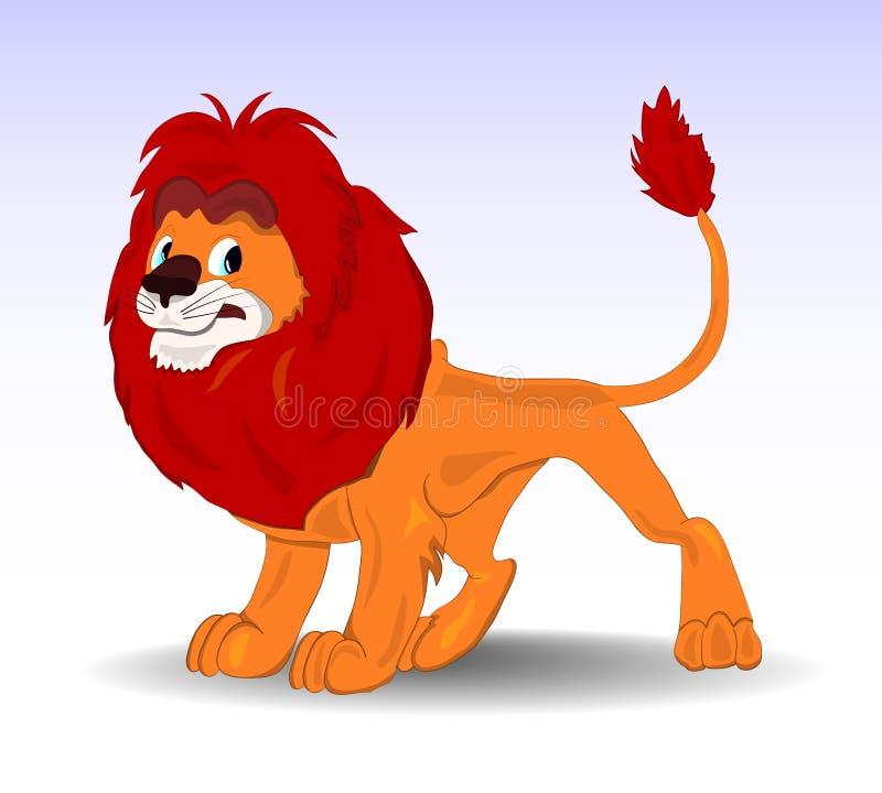 Lion bienveillant de vecteur photo libre de droits